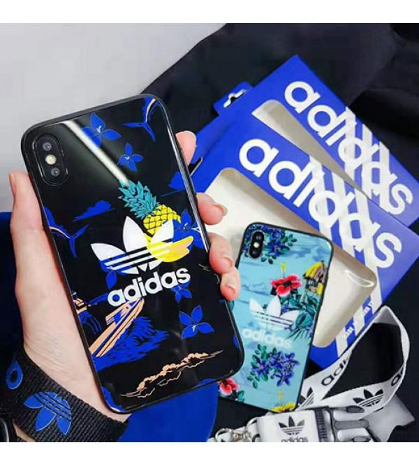 iphone 12ケースadidas アディダス iphone XI/XR Max/se2ケース スポーツ風 iphone xr/xs maxケース 花柄アイフォン x/8/7 plusケース オシャレ ファッション大人気