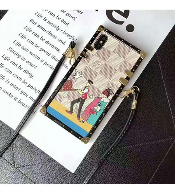 iphone 12ケースルイヴィトン iphone XI/11 pro max/se2ケースブランド iphone xr/xs maxケーストランクオシャレアイフォン x/8/7 plusケースファッションストラップ付き高品質