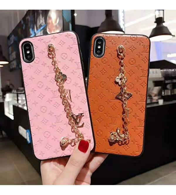 iphone 12ケースルイヴィトン iphone xr/xi/11 pro/se2ケースブランド iphone 11r/xs maxケース オシャレモノグラム チェーン付き アイフォン x/8/7 plusケース 高級ファッション芸能人愛用