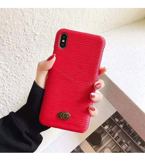 グッチ iphone XI/11 pro/11r/se2ケース ブランド gucci iphone xr/xs maxケース背面 カード入れ Galaxy  s10/s10+ケース 高級オシャレアイフォン x/8/7 plusケース ギャラクシー s9/s8+ケース