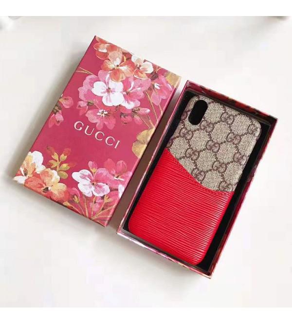 グッチ iphone XI/11 pro/11r/se2ケース ブランド iphone xr/xs maxケース 高品質 Galaxy s10/s10+ケース カード入れ iphone x/8/7 plusケース オシャレギャラクシー s9/s8 plusケース
