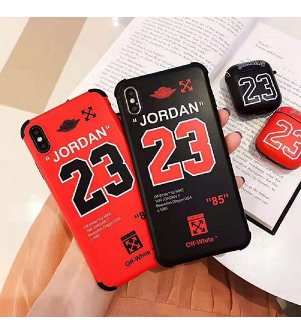 iphone 12 ケースジョーダン off-white iphone 11/11pro max/se2ケース 個性ブランド iphone xr/xs maxケース スポーツ風 オシャレ アイフォン x/8/7 plusカバー カップル 潮流ファッション