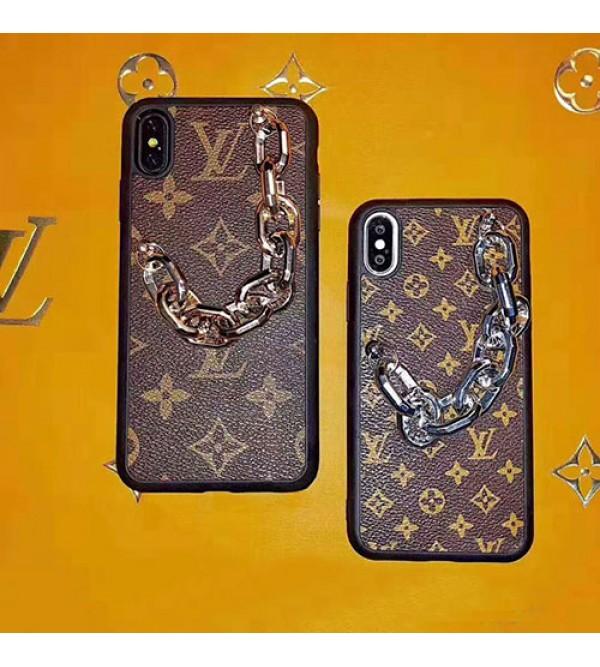 iphone 12 ケースルイヴィトン iphone 11/11 pro/11pro max/se2ケース ブランド iphone xr/xs maxケースモノグラム チェーン付き iphone x/8/7 plusケースGalaxy s10/s10+カバー 個性 ファッションお洒落人気 新品