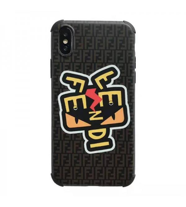 フェンデイ iphone 11 pro max/se2ケース fendi iphone xr/xs maxジャケット型ケース個性小怪獣 iphone x/8/7 plusケース 人気ファッション