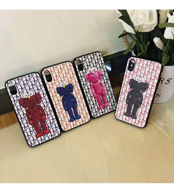 Dior ディオール iphone 11/11 pro max/se2ケース ブランド iphone xr/xs maxケース KAWSコラボ Galaxy s10/s10+ケース 個性人気 iphone x/8/7 plusケース ファッションオシャレ