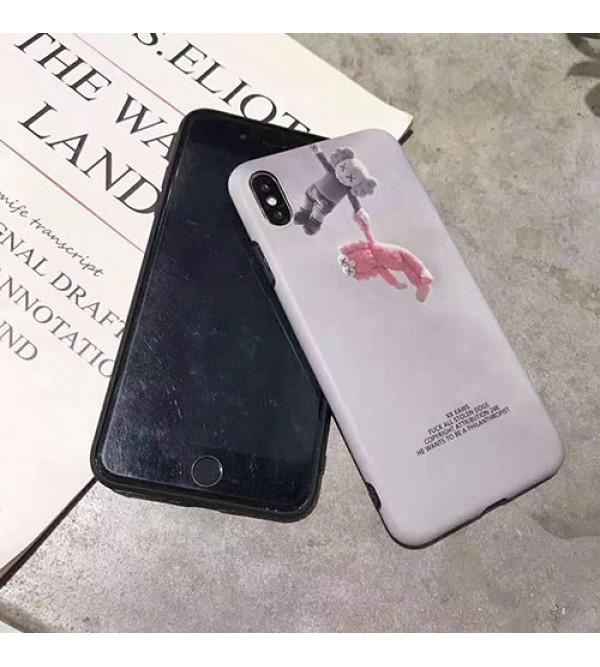KAWS iphone 11/11pro/se2ケース iphone 12 ケースキャラクター iphone xr/xs maxケース 潮流人気 iphone x/10ケース 個性kawsアイフォン8/7 plusジャケット型カバーメンズ レディース向け