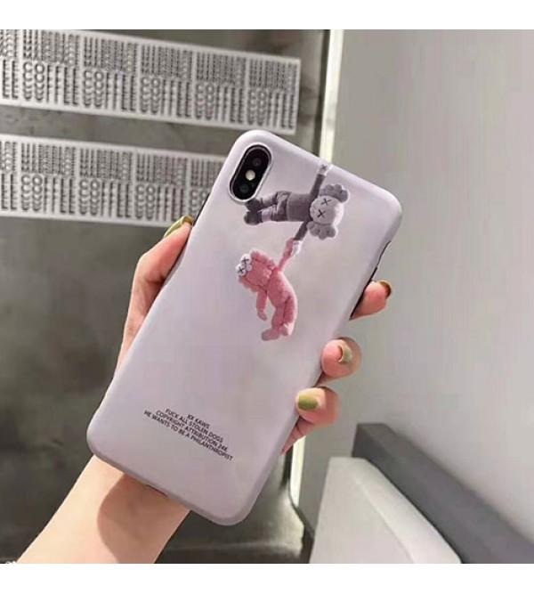 KAWS iphone 11/11pro/se2ケース キャラクター iphone xr/xs maxケース 潮流人気 iphone x/10ケース 個性kawsアイフォン8/7 plusジャケット型カバーメンズ レディース向け