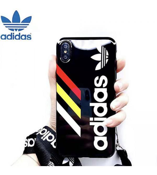 adidas iphone 11pro max/se2ケースブランド iphone xr/xs maxケース オシャレスポーツ風 アイフォン x/8/7 plusケースファッション人気 男女兼用