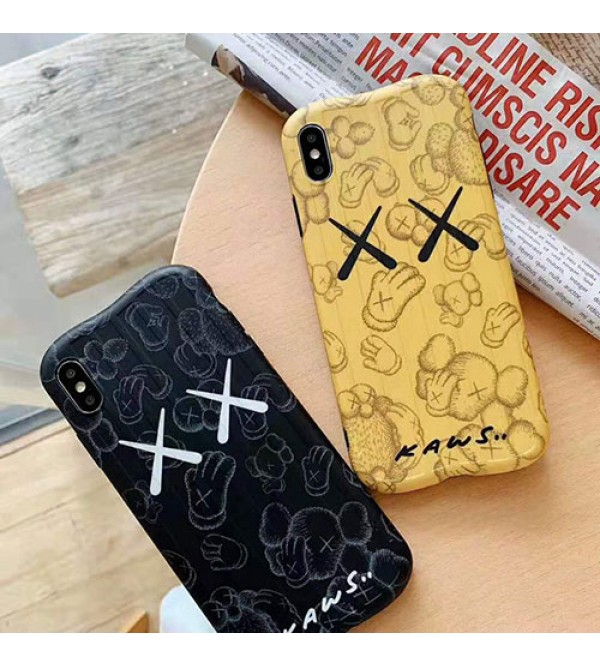 KAWS iphone 11/11pro max/se2ケース 可愛い人気 iphone xr/xs maxケースキャラクター付き iphone x/8/7 plusケース ファッション個性