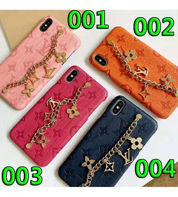 ルイヴィトン iphone 11/11pro/11pro max/se2ケースブランド iphone xr/xs maxケースlvオシャレチェーン付き アイフォンx/8/7 plusケース高級 ファッションジャケット型