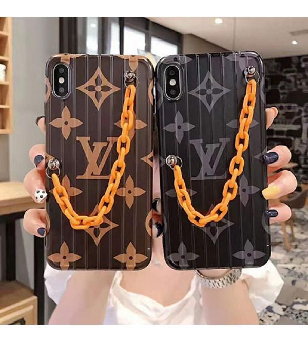 ルイヴィトン iphone 11/11pro max/se2ケース ブランド iphone xr/xs maxケース オシャレモノグラム チェーン付き iphone x/8/7 plusケース  ファッション大人気新品