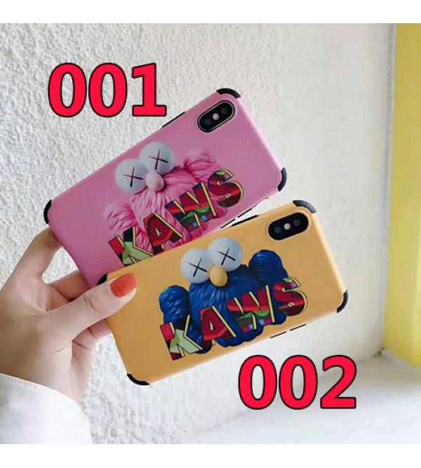 kaws iphone 11/11pro max/se2ケース 個性キャラクター iphone xr/xs  maxケース可愛い オシャレ アイフォンxケース iphone 8/7 plusケース 学生向け ファッション人気