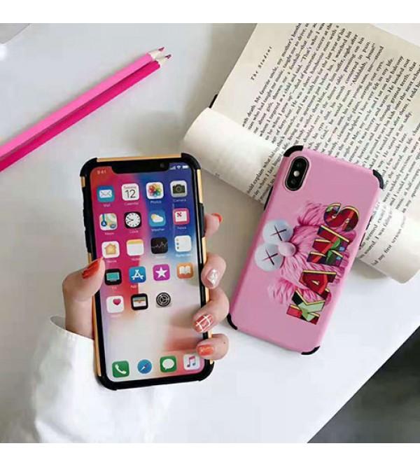 iphone12ケースkaws iphone 11/11pro max/se2ケース 個性キャラクター iphone xr/xs  maxケース可愛い オシャレ アイフォンxケース iphone 8/7 plusケース 学生向け ファッション人気