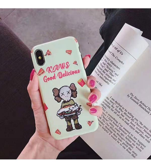 KAWS iphone 11/11pro max/se2ケース キャラクター iphone xr/xs maxケース個性流行 アイフォンx/8/7 plusケースオシャレ人気 可愛いカバー