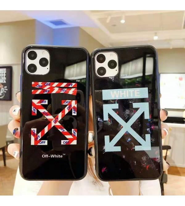 iphone12ケースオーフホワイト iphone 11/11pro max/se2ケースブランド iphone xr/xs maxケース off-white 潮流アイフォンx/8/7 plusケースファッション芸能人愛用
