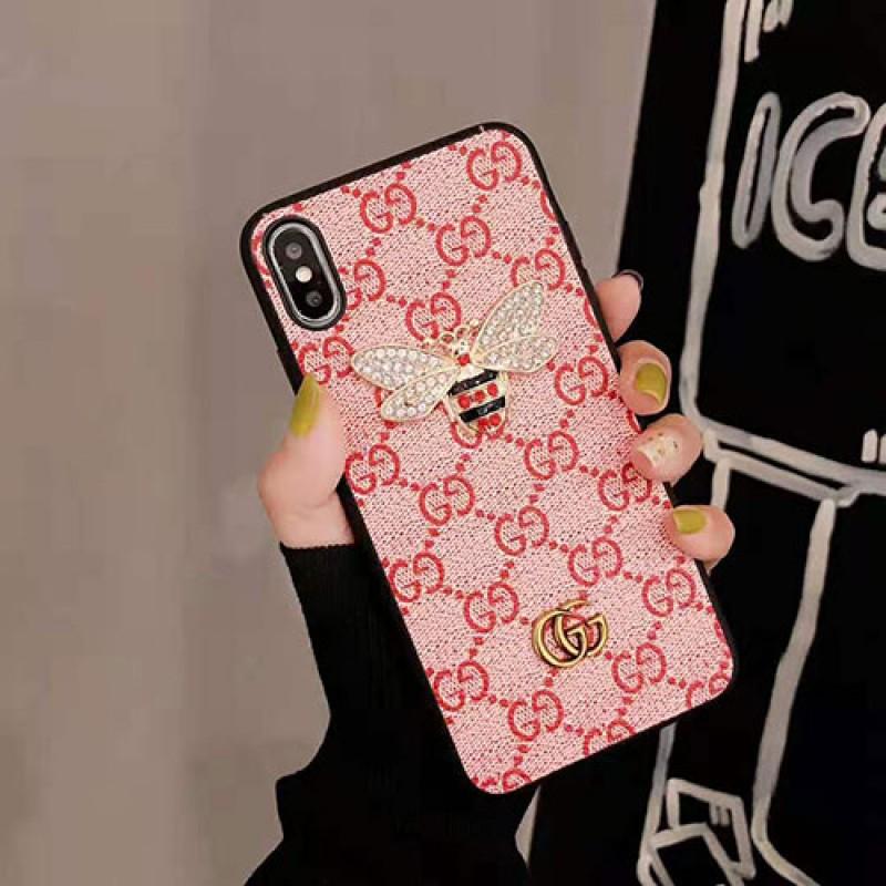 iphone 12/12 mini/12 pro/12 pro maxケースグッチ iphone 11/11 pro max/se2ケースブランド iphone xr/xs maxケースお洒落 ギャラクターGalaxy s10/s10e/s9 plusケース ダイヤモンドミツバチ付き iphone x/8/7 plusケース ファッション大人気