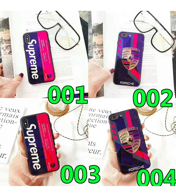 iphone 12 ケースシュプリーム iphone 11/11pro max/se2ケースブランド iphone xr/xs maxケース個性潮流 アイフォン x/8/7 plusケース 青い光ガラス表面 お洒落人気
