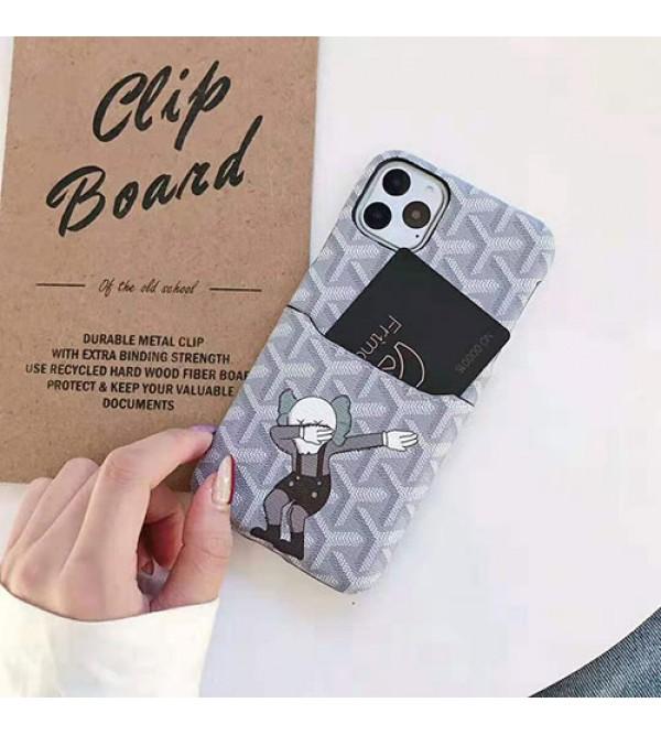 GOYARD ゴヤール iphone 11/11pro max/se2ケース ブランド人気 キャラクター iphone xr/xs maxケース カードポケット付き アイフォン x/8/7 plusケース 個性ファッション可愛い