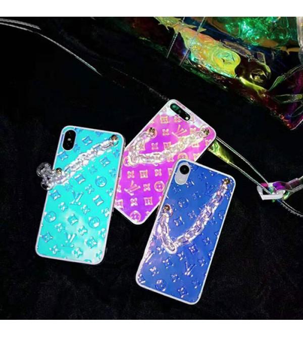ルイヴィトン iphone 11/11pro/11 pro max/se2ケース ブランド iphone xr/xs maxケース lv チェーン付き アイフォン x/8/7 plusカバー お洒落カラフル ファッション 耐衝撃