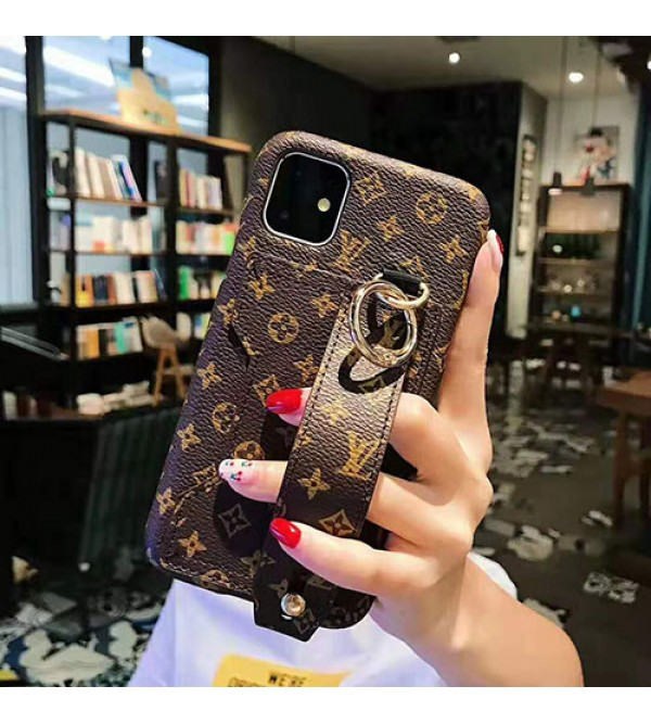 ルイヴィトン iphone 12 ケースグッチ iphone 11/11pro max/se2ケースブランド iphone xr/xs maxケース お洒落ハンドベルト付きアイフォンx/8 plusケースファッション高品質 スタンド機能付き