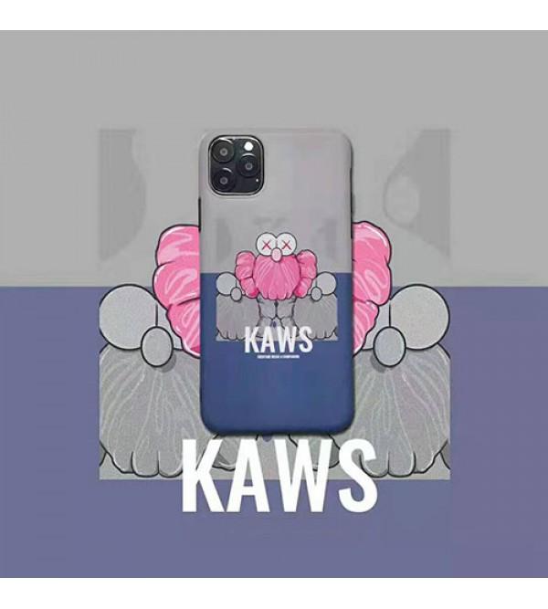 iphone 12ケースKAWS iphone 11/11pro max/se2ケース可愛いキャラクター付き iphone xr/xs maxケース個性パロディ風 アイフォン x/8/7 plusケース ファッション潮流 人気