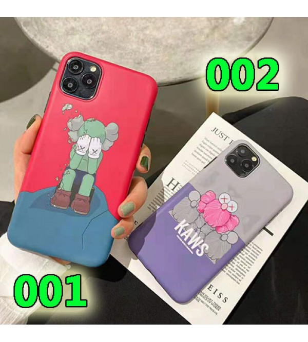 KAWS iphone 11/11pro max/se2ケース可愛いキャラクター付き iphone xr/xs maxケース個性パロディ風 アイフォン x/8/7 plusケース ファッション潮流 人気