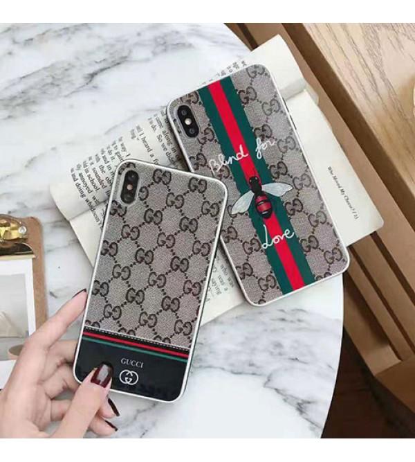 グッチ 蜂柄 iphone 13/12/12 pro max/12 mini/11pro/11 pro max/se2ケース 背面ガラス ブランド iphone xr/xs maxケース オシャレ 高級 アイフォン x/8/7 plusケース 大人気 ファッション 経典 メンズ レディース