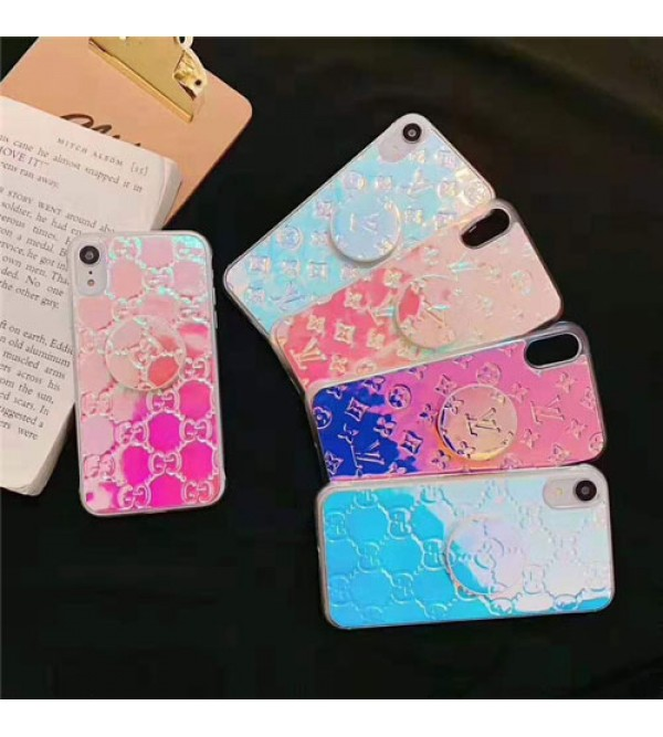 iphone 12 ケースルイヴィトン iphone 11/11pro/11 pro max/se2ケースグッチ ブランド lv iphone xr/xs maxケースカラフルレーザー表面 iphone x/8/7 plusケース ファッションオシャレスタンド機能付き