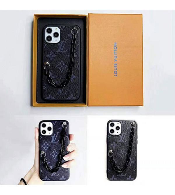 iphone 12 ケースルイヴィトン iphone 11/11pro max/se2ケース ブランド lv iphone xr/xs maxケース オシャレチェーン付き iphone x/8 plus/7 plusケースファッション芸能人愛用