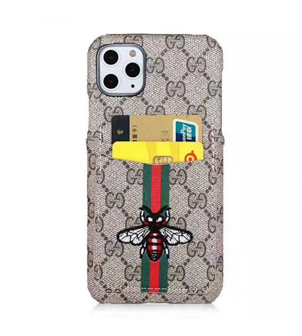 iphone 12 ケースグッチ iphone11/11 pro max/se2ケース ブランドiphone xr/xs maxケースgucciGalaxy s10/note10ケース iphone x/8/7 plusジャケット型ケース オシャレ刺繍 カードポケット付き