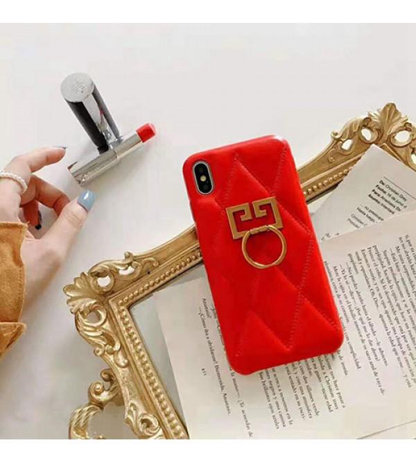 GIVENCHY iphone11/11pro max/se2ケースジバンシー iphone xr/xs maxケース ブランド iphone x/8/10/7 plusケース ファッション高級リング付き 芸能人愛用