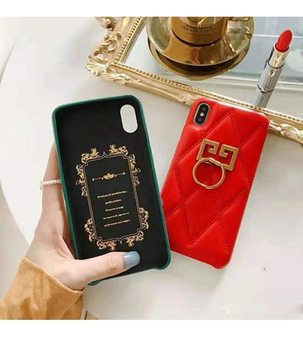 iphone 12 ケースGIVENCHY iphone11/11pro max/se2ケースジバンシー iphone xr/xs maxケース ブランド iphone x/8/10/7 plusケース ファッション高級リング付き 芸能人愛用