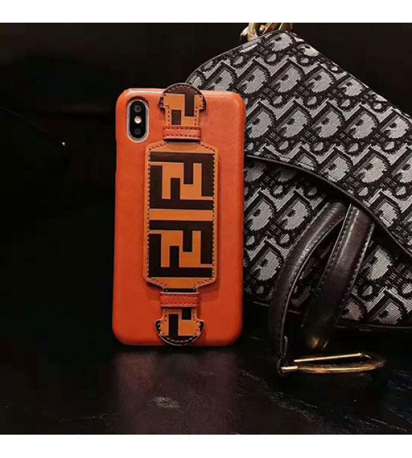 FENDI iphone 11/11pro max/se2ケースフェンデイ iphone xr/xs maxケース オシャレハンドベルト付き iphone x/8/7 plusケースファッション個性 人気