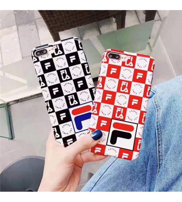 FILAフィラ iphone11/11pro/11pro max/se2ケース ブランド 潮流 iphone xr/xs  maxケースペアお揃い アイフォン x/8/7 plusケース オシャレチェック ファッション個性