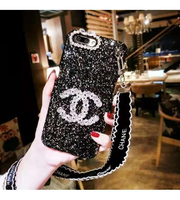 CHANEL YSL iphone11/11pro max/se2ケース シャネル イブサンローラン iphone xr/xs  maxケース キラキラ iphone x/8/7 plusケース オシャレ女性向け ファッション