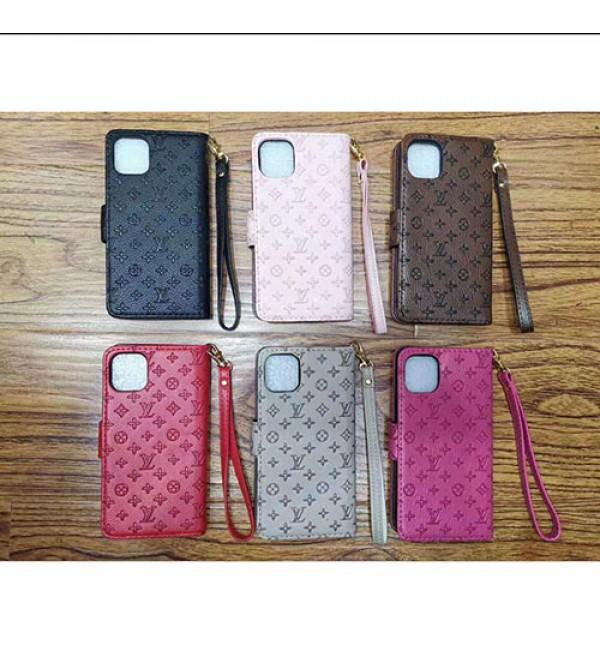 iPhone 12/12 mini/12 pro/12 pro maxケースルイヴィトン iphone11/11pro/11 pro max/se2ケースブランド手帳型LV iphone xr/xs  maxケースビジネス風 iphone x/8/7 plusケースファッション高品質ストラップ付き