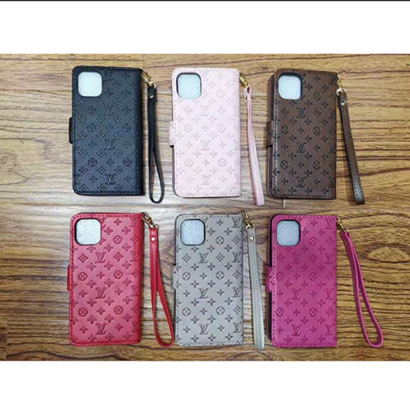 iPhone 12ケースルイヴィトン iphone11/11pro/11 pro max/se2ケースブランド手帳型LV iphone xr/xs  maxケースビジネス風 iphone x/8/7 plusケースファッション高品質ストラップ付き