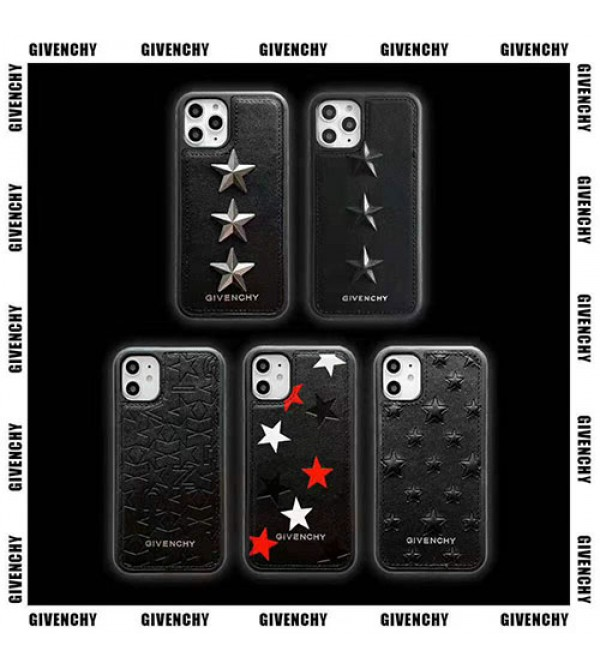 ジバンシー iphone11/11pro max/se2ケースブランドgivenchy iphone xr/xs maxケース 個性五芒星付き アイフォン x/8/7 plusケースファッションオシャレ高級