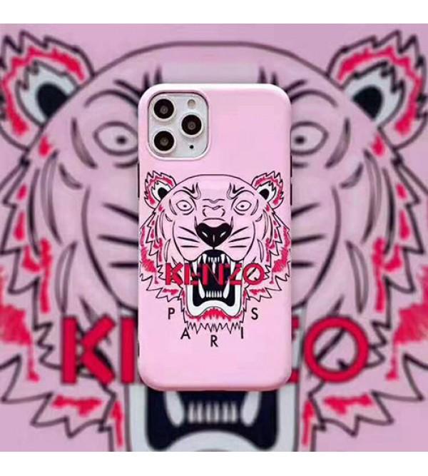 ケンゾー iphone11/11pro max/se2ケースブランド iphone xr/xs maxケースKENZO 虎頭付き アイフォンx/8/7 plusカバー 男女兼用 ファッションカッコイイ保護