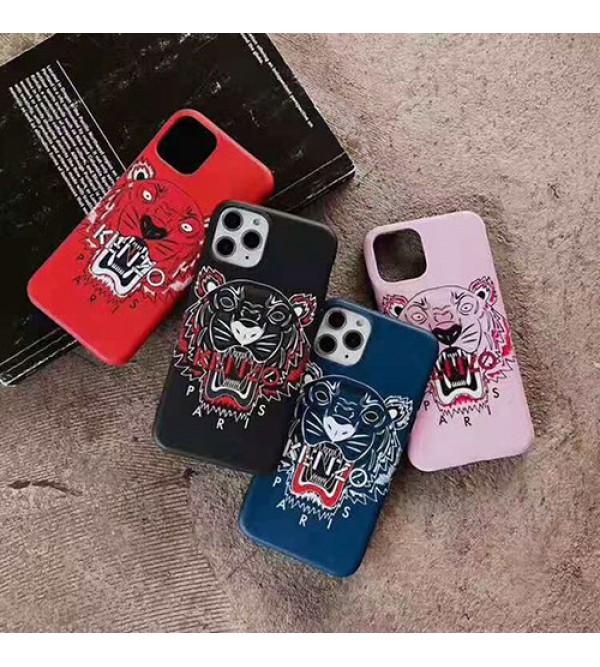 iphone 12ケースケンゾー iphone11/11pro max/se2ケースブランド iphone xr/xs maxケースKENZO 虎頭付き アイフォンx/8/7 plusカバー 男女兼用 ファッションカッコイイ保護