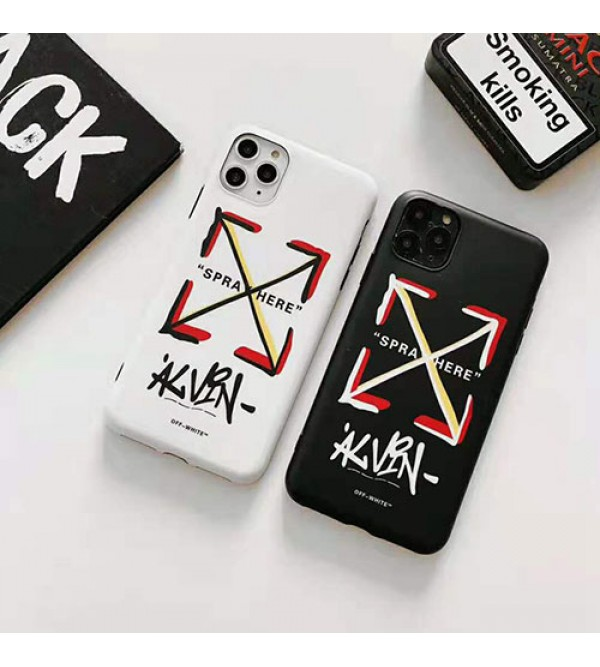 off-white iphone11/11pro max/se2ケースオーフホワイト iphone xr/xs  maxケース 潮流個性 アイフォン x/8/7 plusケース ファッション大人気 芸能人愛用