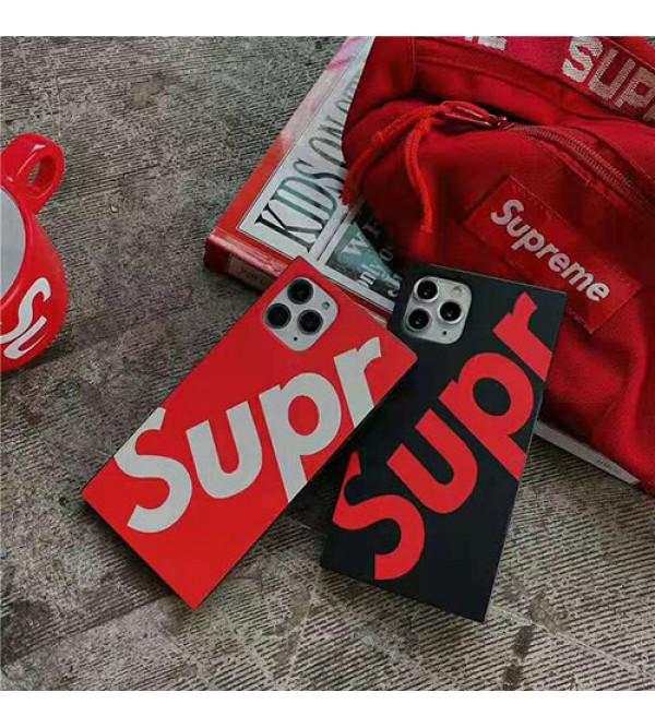 シュプリーム iphone 11/11pro max/se2ケースブランドsupreme iphone xr/xs maxケースカップル向け アイフォン x/8/7 plusスマホケース 四角型 ファッション潮流個性