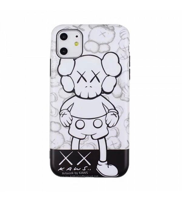 潮流ブランドKaws iphone11/11pro/11pro max/se2ケースオシャレiphone xs/xr/xs maxケース暴力熊付きiphone   x/7/8/plusケース男女兼用 激安新品