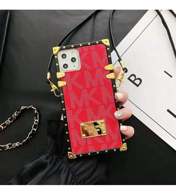 MK マイケルコースiphone11/11pro/11pro max/se2ケースオシャレiphone xs/xr/xs maxケースストラ  ップ付きiphone x/7/8/plusケース斜め掛けファンション潮流