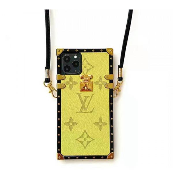 人気ブランドルイヴィトンiphone11/11pro/11pro max/se2ケースファンションiphone xs/xr/xs maxケースオシ  ャレiphone x/7/8/plusケースストラップ付き 斜め掛け 個性潮流 芸能人愛用