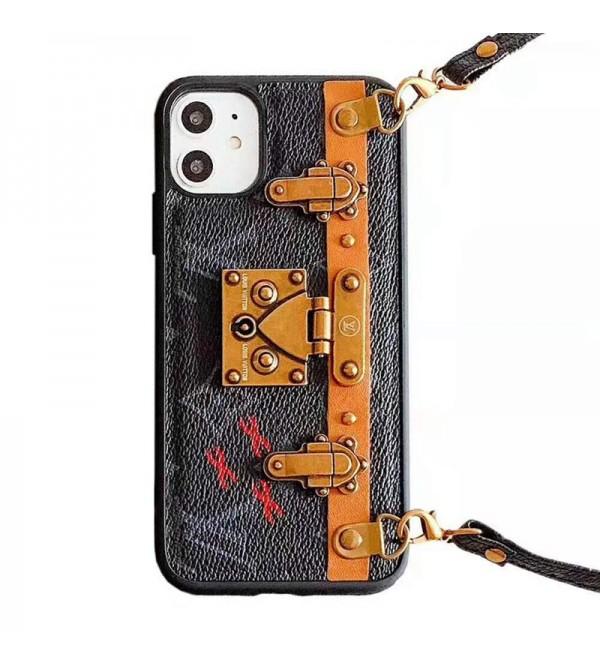 欧米人気ブランドルイヴィトンiphone11/11pro /11pro max/se2ケースオシャレiphone x/xs/xr/xs maxケース潮流iphone7/8/plusケースジャケット型 ストラップ付き男女兼用