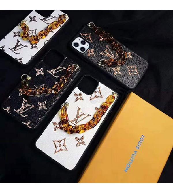 オシャレブランドルイヴィトンiphone11/11pro/11pro max/se2ケース花柄iphone x/xs/xr/xs maxケースチェー  ン付きiphone7/8/plusケースファンション潮流 滑り止め