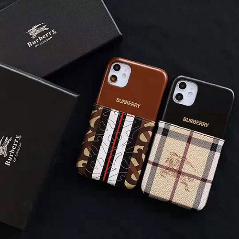 iphone 12 ケースバーバリー iphone11/11pro max/se2ケースブランド iphone xr/xs maxケースカードポケット付き iphone x/8/7 plusケースイギリス風 ファッション大人気 お洒落 男女兼用