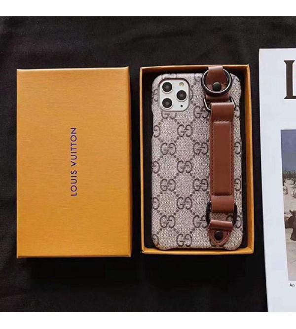 ルイヴィトン グッチ iphone11/11 pro max/se2ケースブランド iphone xr/xs maxケース お洒落ハンドベルト付き iphone x/8/7 plusケース 高級ファッション男女兼用