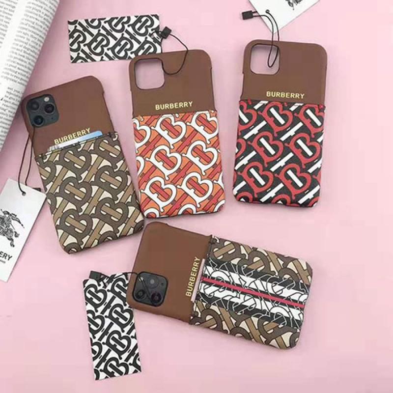iphone 12 ケースバーバリー burberry iphone11/11 pro max/se2ケース ブランド iphone xr/xs maxケースイギリス風 お洒落iphone x/8/7 plusケース背面カード入れ ファッション潮流新品